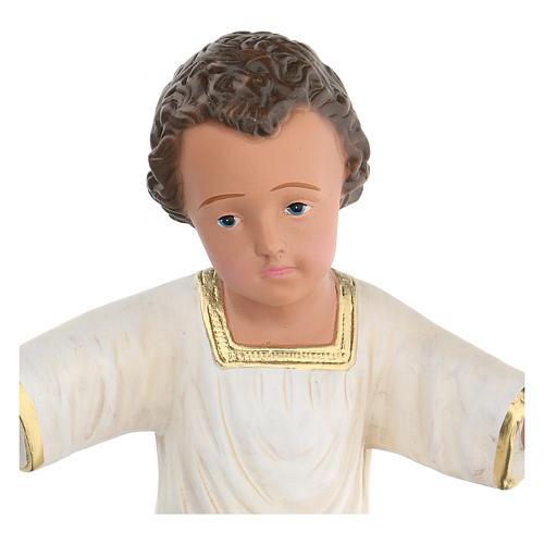 Niño Jesús yeso pintado a mano h real 27 cm Arte Barsanti 2