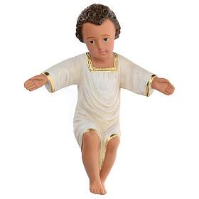 Gesù Bambino gesso dipinto a mano h reale 27 cm Arte Barsanti s1