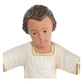 Gesù Bambino gesso dipinto a mano h reale 27 cm Arte Barsanti s2