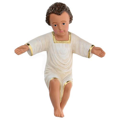 Gesù Bambino gesso dipinto a mano h reale 27 cm Arte Barsanti 1