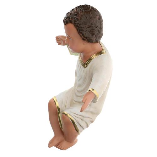 Gesù Bambino gesso dipinto a mano h reale 27 cm Arte Barsanti 5