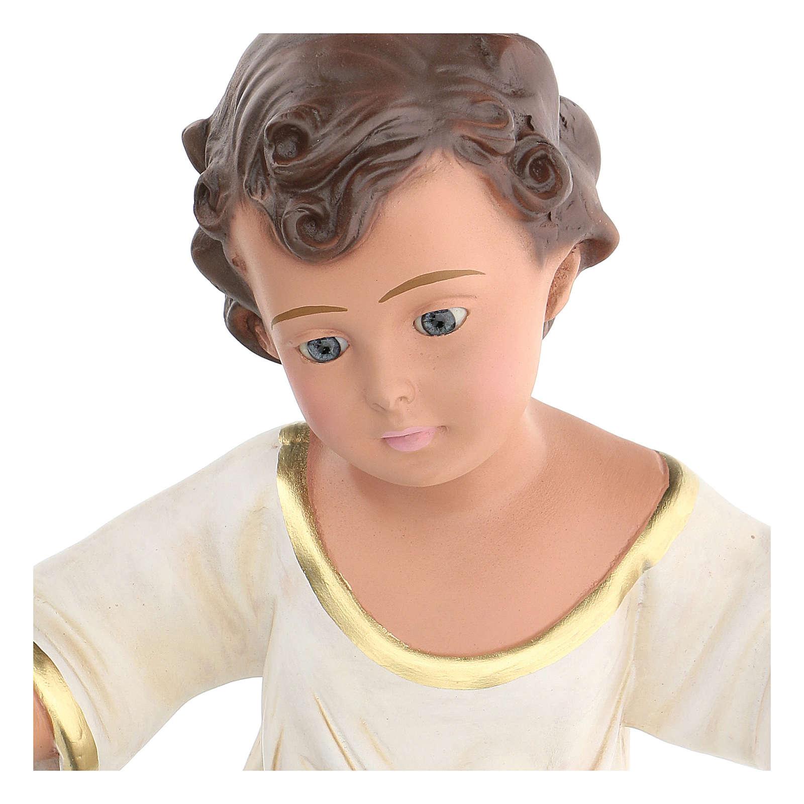 Niño Jesús h real 36 cm yeso con ojos de vidrio Barsanti 4