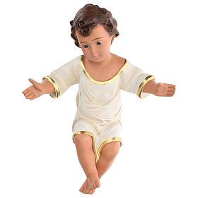 Niño Jesús h real 36 cm yeso con ojos de vidrio Barsanti s1