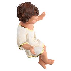 Niño Jesús h real 36 cm yeso con ojos de vidrio Barsanti s4