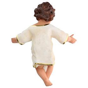 Niño Jesús h real 36 cm yeso con ojos de vidrio Barsanti s5