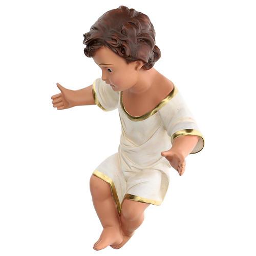 Niño Jesús h real 36 cm yeso con ojos de vidrio Barsanti 3
