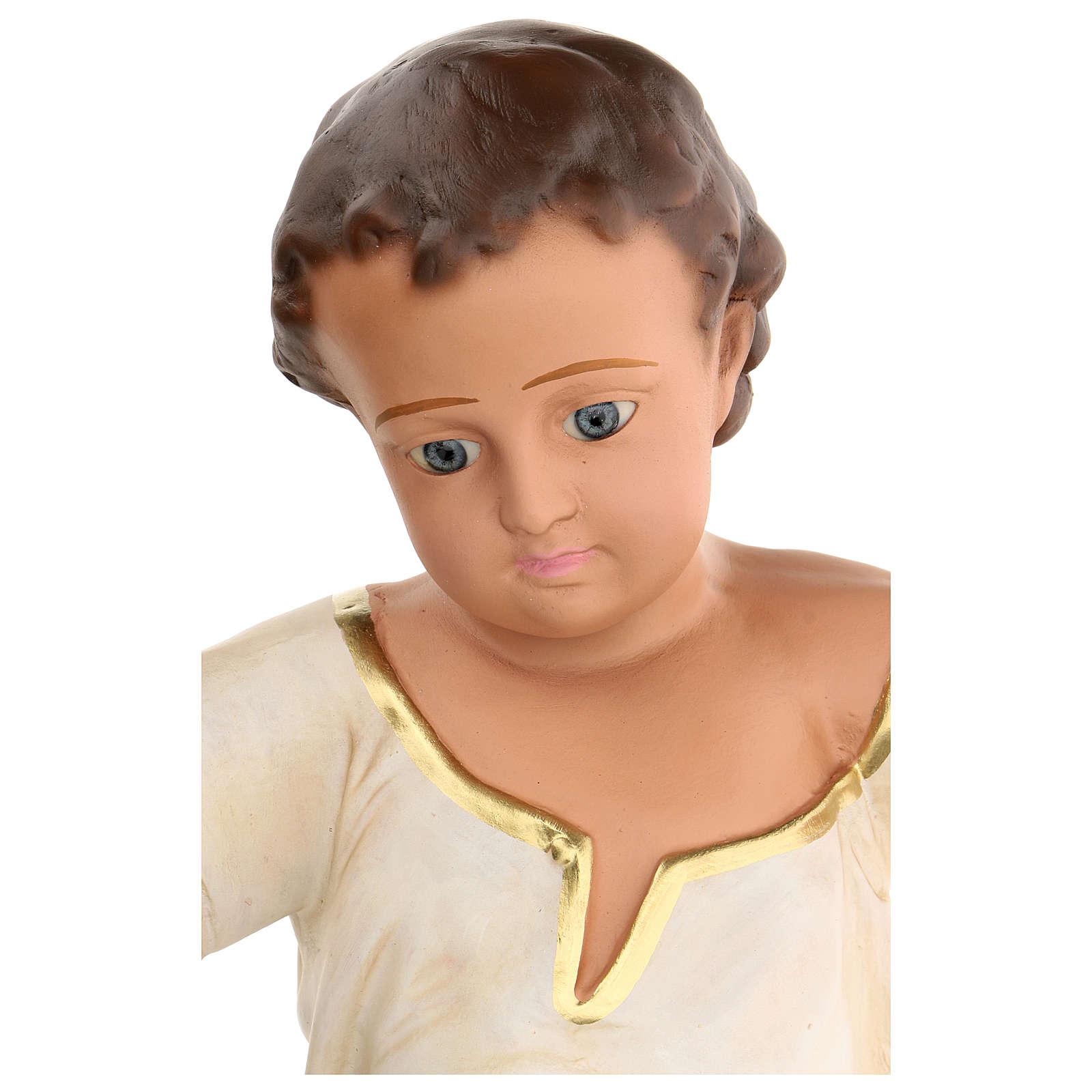 Niño Jesús h real 50 cm yeso y ojos de vidrio Barsanti 4