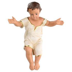 Niño Jesús h real 50 cm yeso y ojos de vidrio Barsanti s1