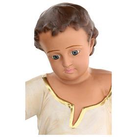 Niño Jesús h real 50 cm yeso y ojos de vidrio Barsanti s4