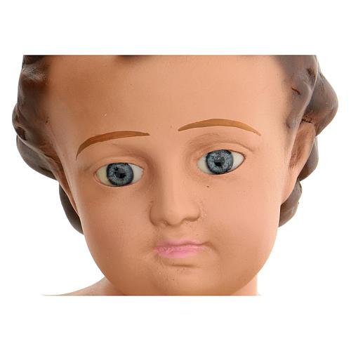 Niño Jesús h real 50 cm yeso y ojos de vidrio Barsanti 2