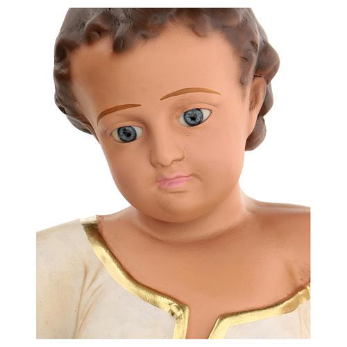 Niño Jesús h real 50 cm yeso y ojos de vidrio Barsanti 3