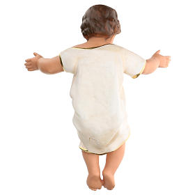 Gesù Bambino h reale 50 cm gesso e occhi in vetro Barsanti s5