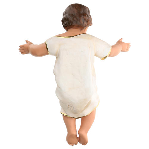 Gesù Bambino h reale 50 cm gesso e occhi in vetro Barsanti 5