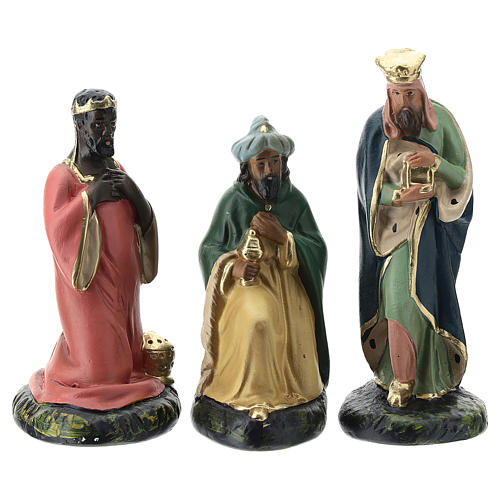 Arte Barsanti Nativity Scene with 9 hand-painted characters in plaster 15 cm 3