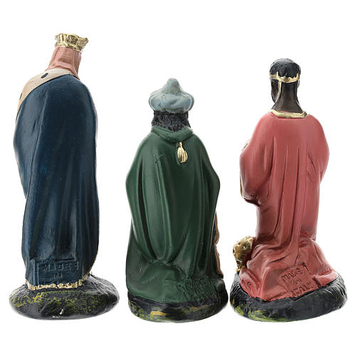 Arte Barsanti Nativity Scene with 9 hand-painted characters in plaster 15 cm 8