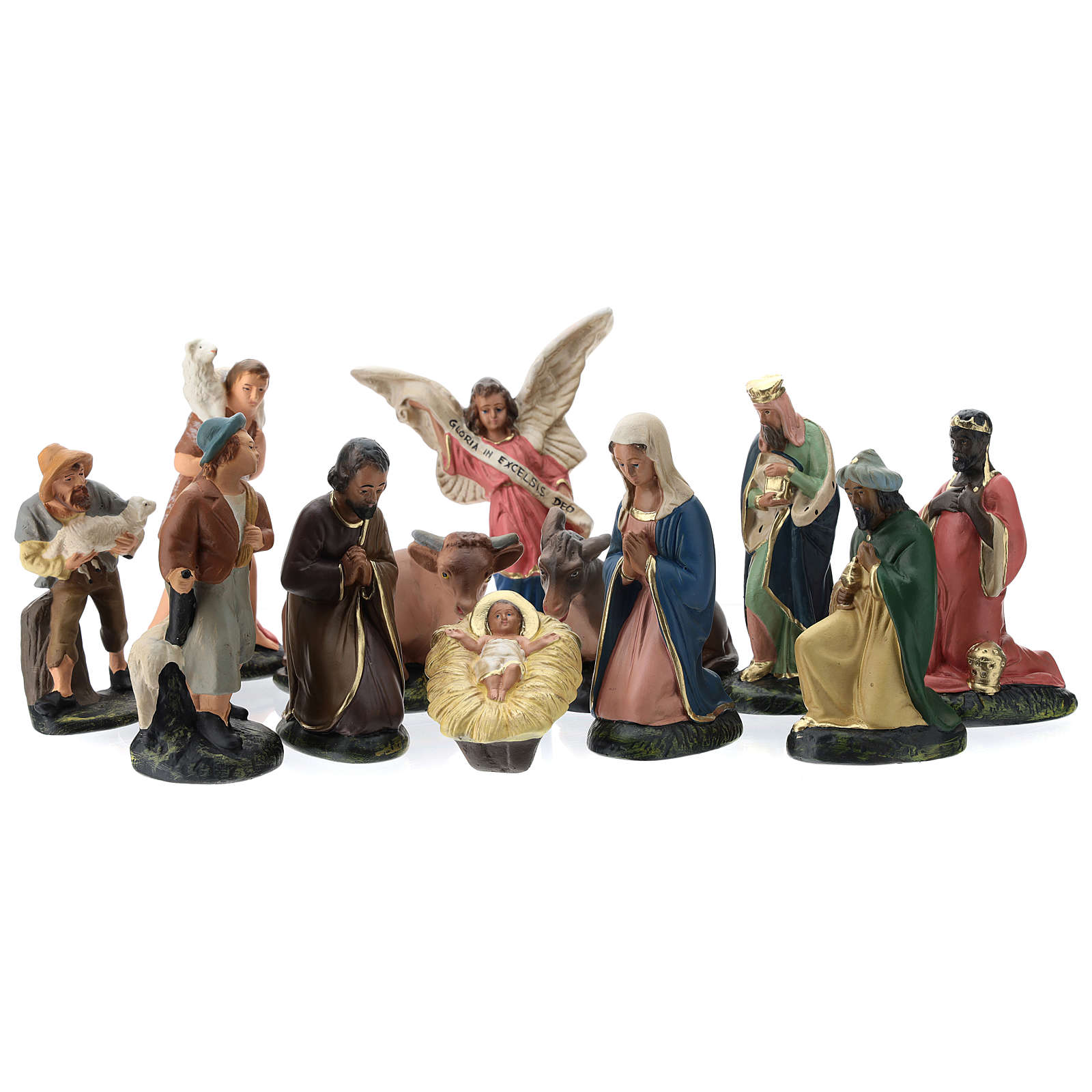 Arte Barsanti Nativity Scene with 12 hand-painted characters in plaster 15 cm 4
