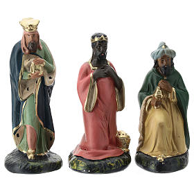 Arte Barsanti Nativity Scene with 12 hand-painted characters in plaster 15 cm s4