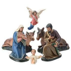 Natividad Arte Barsanti 6 personajes 20 cm yeso s1