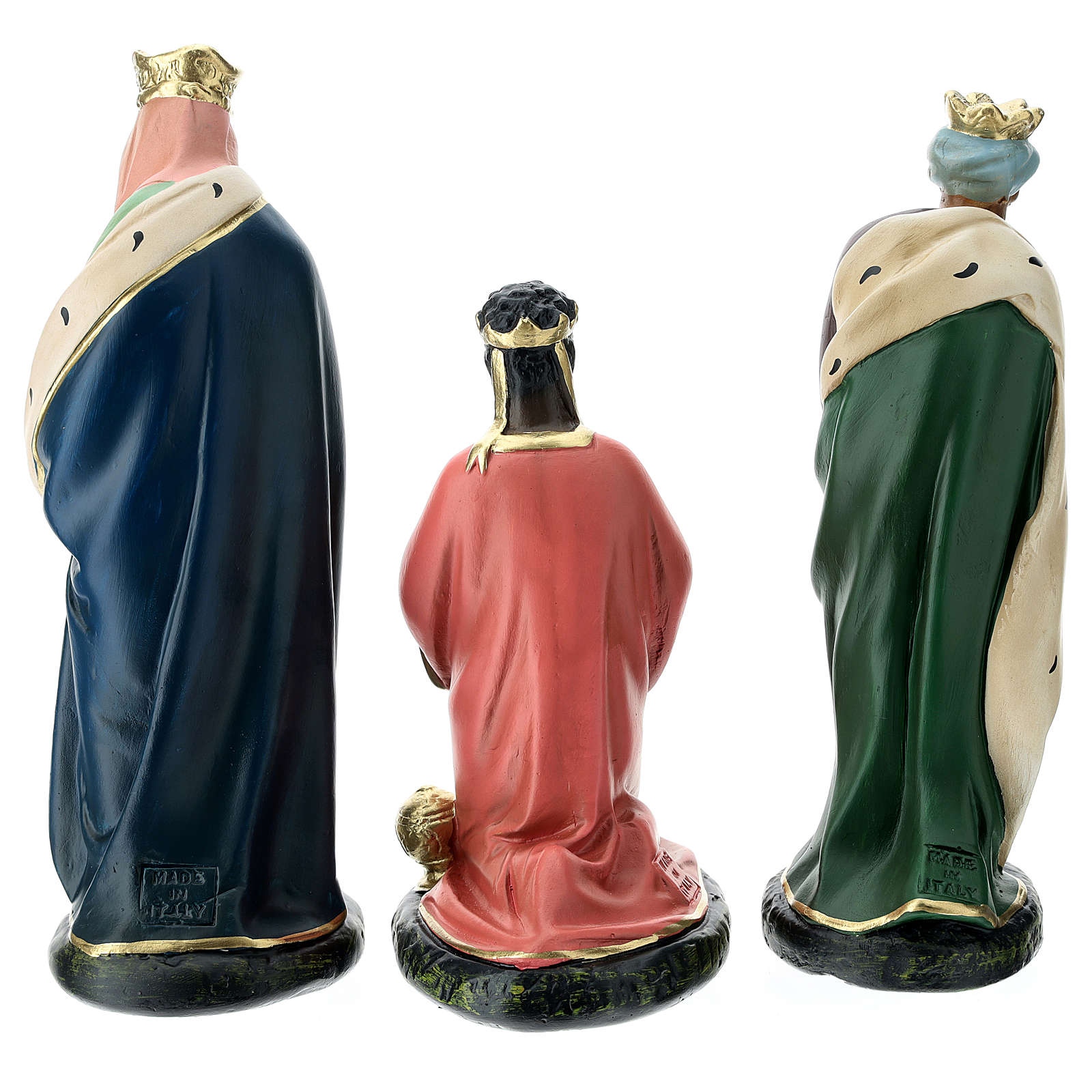 Arte Barsanti Nativity Scene with 9 hand-painted characters in plaster 20 cm 4