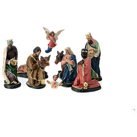 Arte Barsanti Nativity Scene with 9 hand-painted characters in plaster 20 cm s1