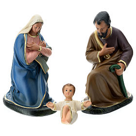 Arte Barsanti Nativity Scene with 9 hand-painted characters in plaster 20 cm s2