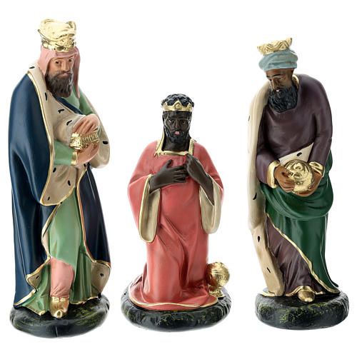 Arte Barsanti Nativity Scene with 9 hand-painted characters in plaster 20 cm 3