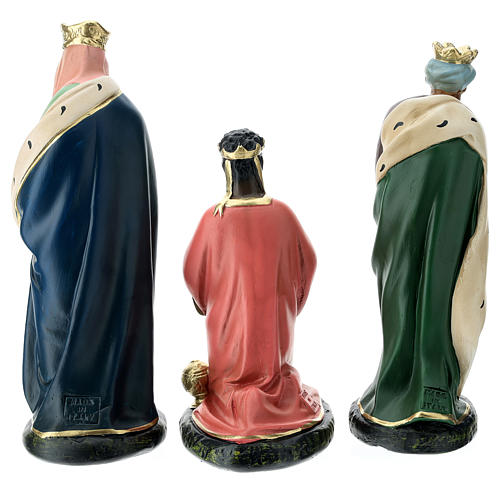 Arte Barsanti Nativity Scene with 9 hand-painted characters in plaster 20 cm 9