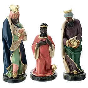 Set belén Arte Barsanti 20 cm 9 personajes yeso pintado a mano s3