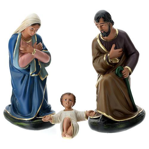 Natividad Arte Barsanti 6 personajes yeso pintado a mano 30 cm 2
