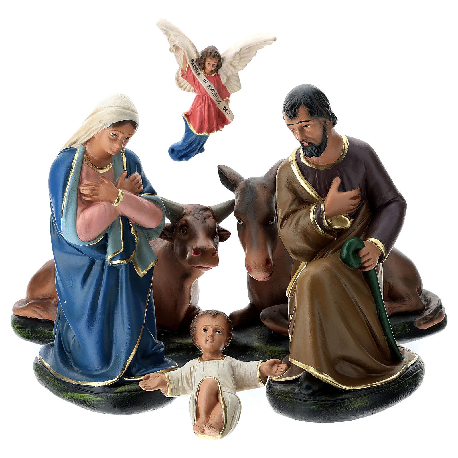 Natività Arte Barsanti 6 personaggi gesso dipinto a mano 30 cm 4