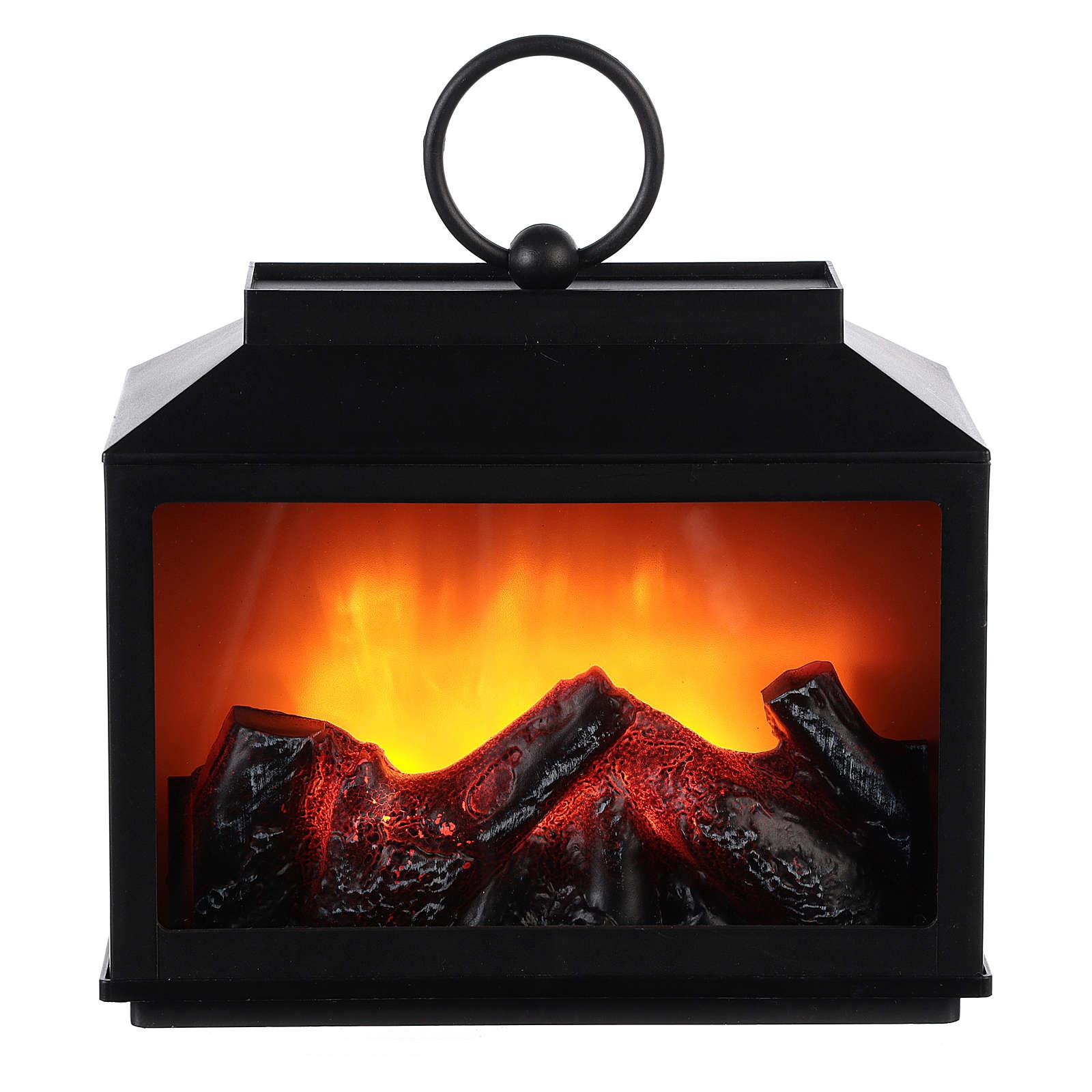 Linterna con fuego Led 15x10x20 3