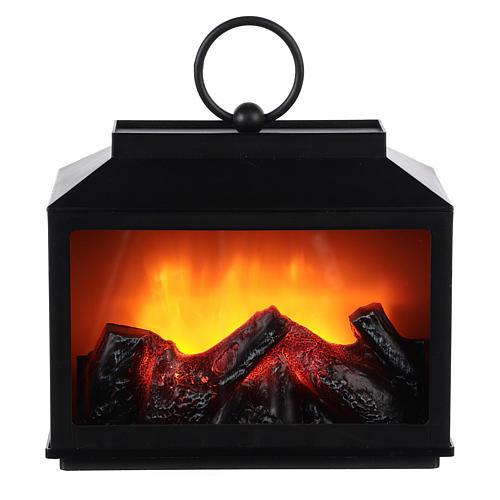 Linterna con fuego Led 15x10x20 1