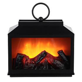 Lareiras Decorativas com Led: Lanterna LED efeito chama 15x10x20 cm