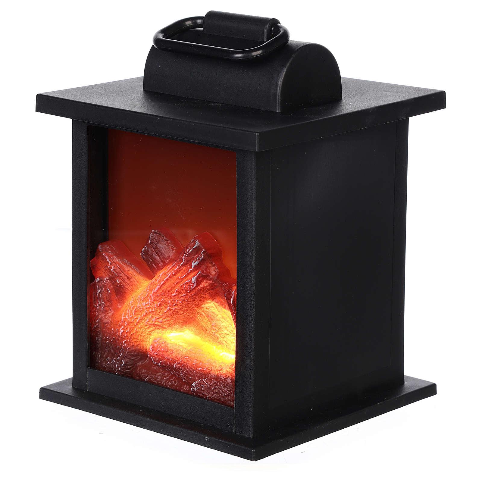 Ogień led w kwadratowym kształcie 15x10x10 cm 3