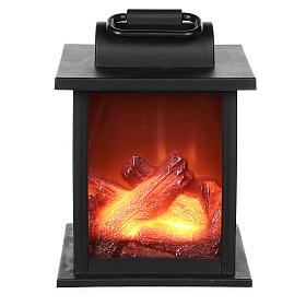 Ogień led w kwadratowym kształcie 15x10x10 cm s1