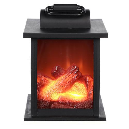 Ogień led w kwadratowym kształcie 15x10x10 cm 1