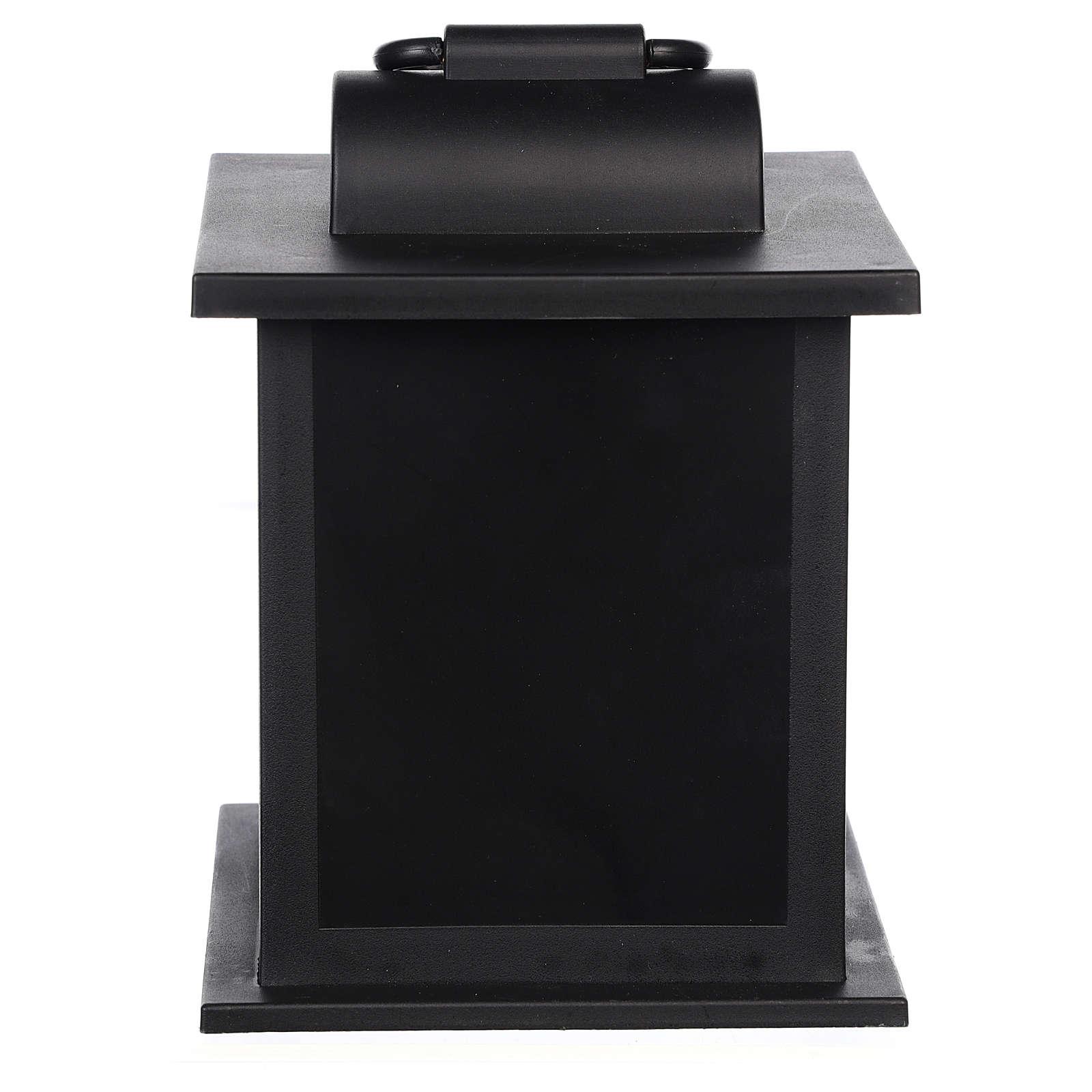 Lareira decorativa LED quadrada efeito chama 15x10x10 cm 3
