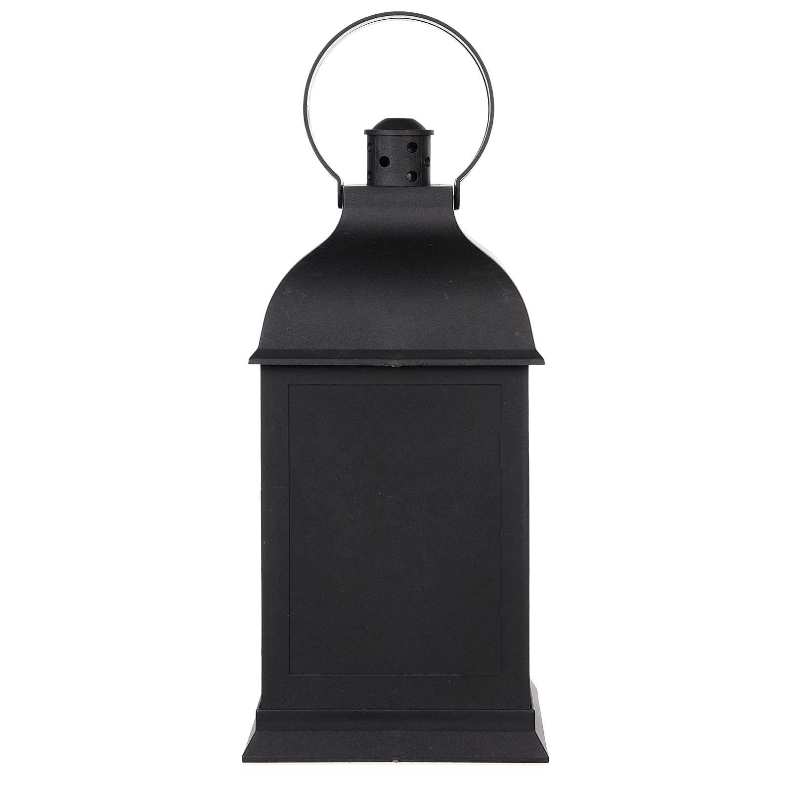 Lareira decorativa LED lanterna efeito chama 25x10x10 cm 3