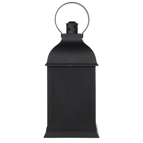 Lareira decorativa LED lanterna efeito chama 25x10x10 cm 4