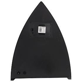 Cheminée avec feu LED triangulaire 35x30x10 cm s4