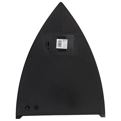 Cheminée avec feu LED triangulaire 35x30x10 cm 4