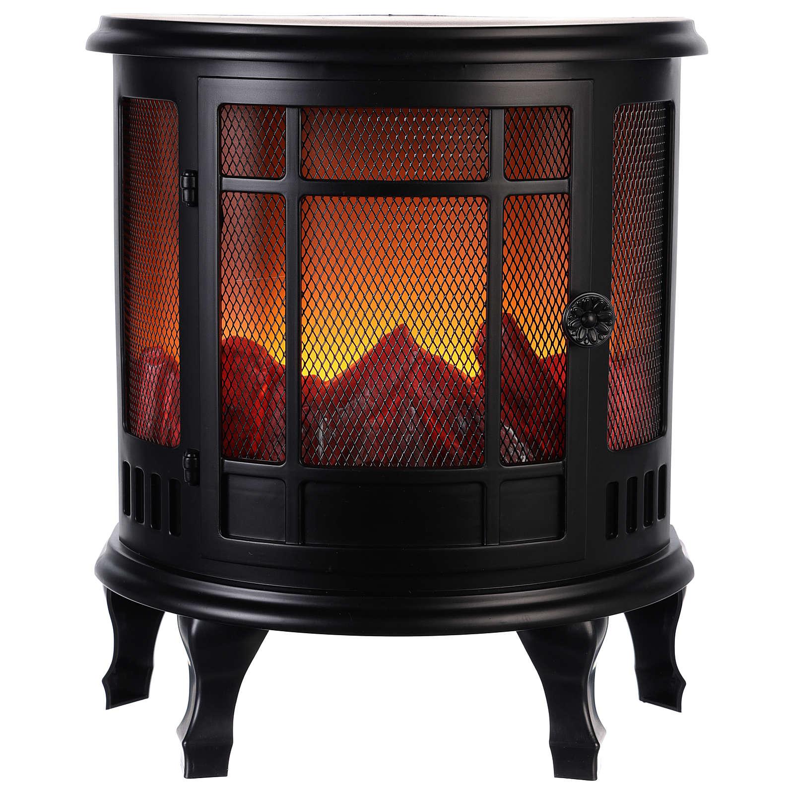Chimenea Led: estufa con fuego 35x30x15 cm 3