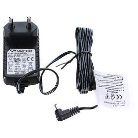 Lareira decorativa preta com luz LED efeito chama 50x81x12 cm s5