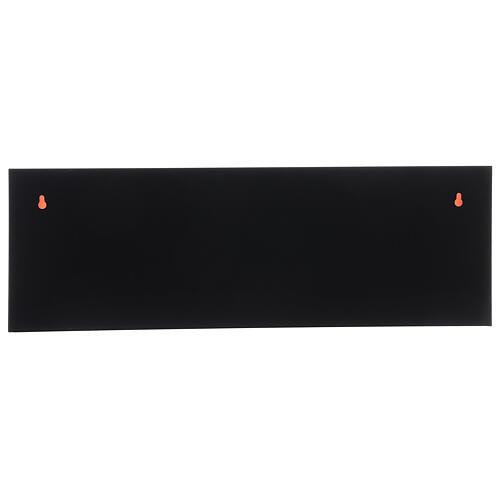 Cheminée LED rectangulaire effet flamme 20x80x10 cm 4