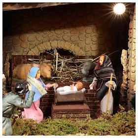 Complete Nativity scene set with Moranduzzo statues, 8 modules 100x320x120 cm s4