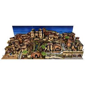 Presépio completo aldeia popular com figuras Moranduzzo, 8 módulos medidas: 100x320x120 cm s3