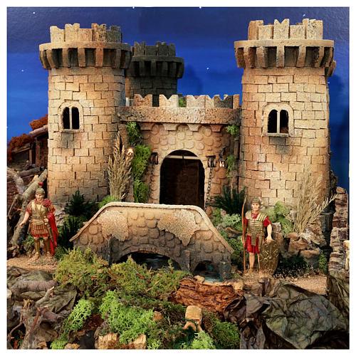 Presépio completo aldeia popular com figuras Moranduzzo, 8 módulos medidas: 100x320x120 cm 2