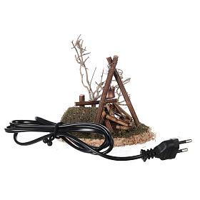 VÉRITABLE feu de camp clignotant 220V pour crèche 8-10-12 cm s1