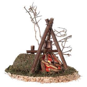 VÉRITABLE feu de camp clignotant 220V pour crèche 8-10-12 cm s2