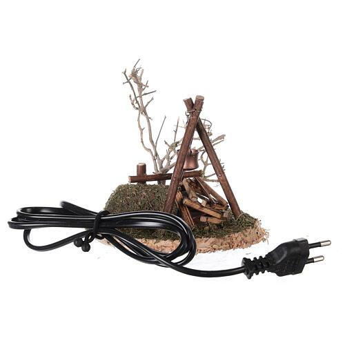 VÉRITABLE feu de camp clignotant 220V pour crèche 8-10-12 cm 1